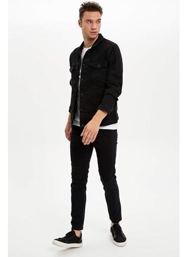 DeFacto Basic Jean Ceket Siyah